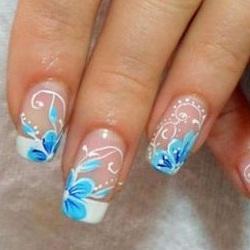 рисунки на нарощенных ногтях фото